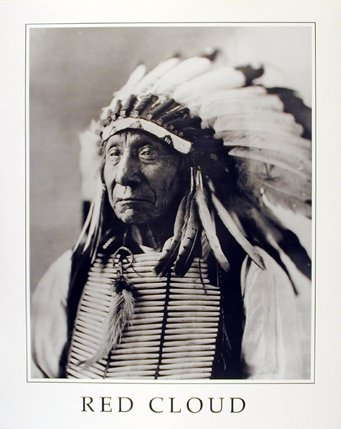 Native American Wall Decor Indian Chief Red Cloud Colorado Art Print Poster (16x20)