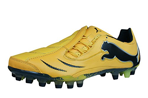 89b76238c Puma PowerCat 1.10 Synth Grass Mens Leather Soccer Boots   Cleats - Yellow  outlet