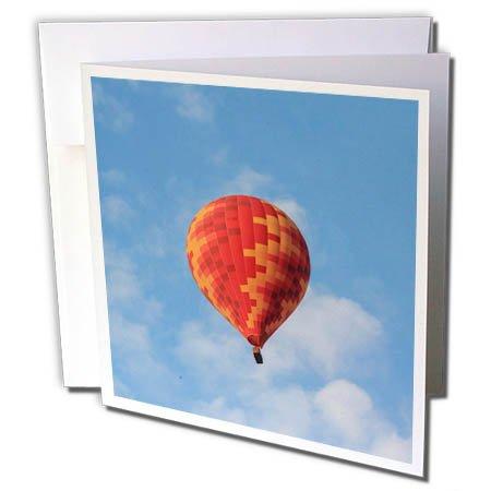3dRose Danita Delimont - Travel - Turkey, Anatolia, Cappadocia, Goreme. Hot air balloon in the sky. - 12 Greeting Cards with envelopes (gc_276994_2)
