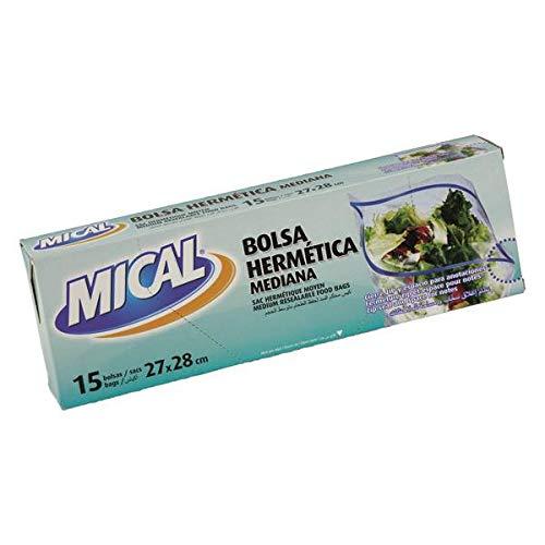 Mical - Bolsa hermética - Mediana, 27x28 - 15 bolsas: Amazon ...