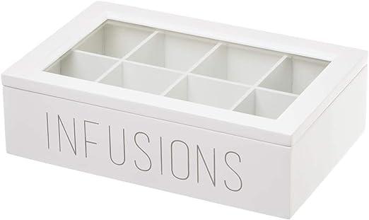 Caja infusiones de Madera Blanca Moderna para Cocina Vitta ...