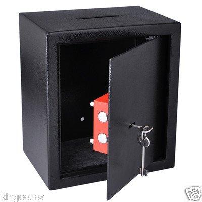 Pro 0.4CF Steel Depository Drop Slot Safe Cash Cabinet Box Key Lock Home Security