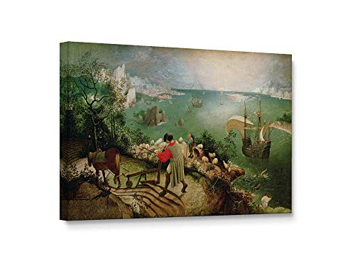 Niwo Art - Landscape with The Fall of Icarus, World's Most Famous Paintings Series, Canvas Wall Art Home Decor, Gallery Wrapped, Stretched, Framed Ready to Hang (18