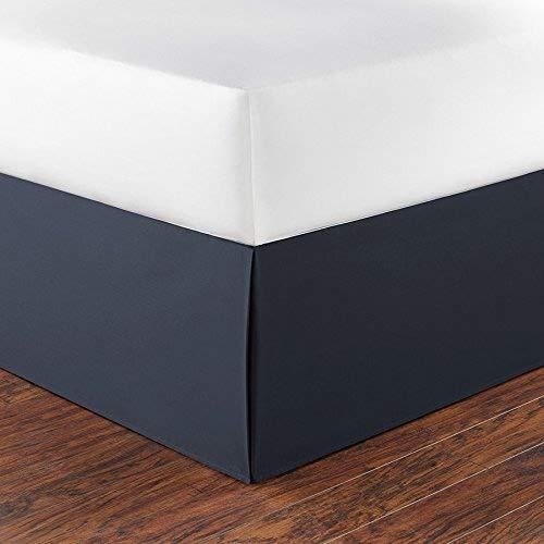 - Nautica 217217 Cotton Bed Skirt, Queen, Navy