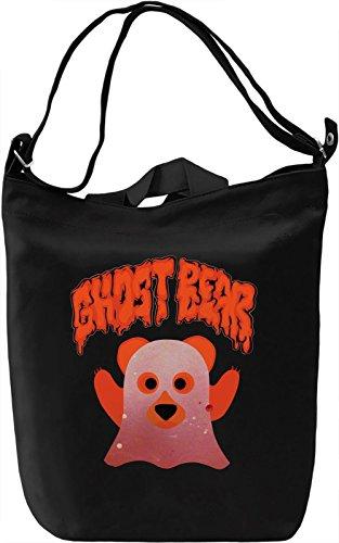Ghost Bear Borsa Giornaliera Canvas Canvas Day Bag| 100% Premium Cotton Canvas| DTG Printing|
