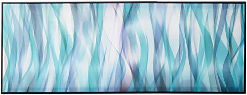 Chic Home HDP9339-AN Decor Flames 1 Piece Framed Wrapped Canvas Wall Art Giclee Print Modern Fiery Ribbon in Hues of Blue Abstract Design Stretched Ready to Hang, 17
