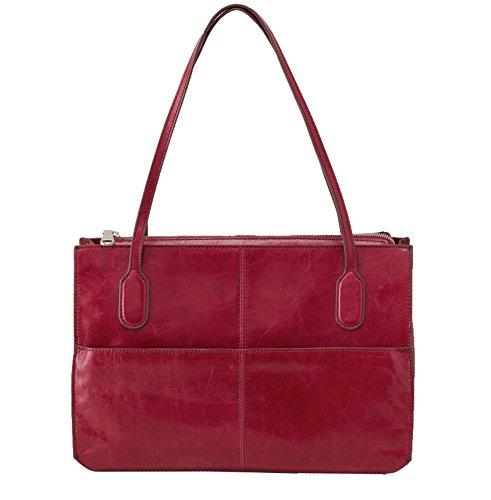 [Hobo Women's Genuine Leather Vintage Friar Top Handle Shoulder Bag (Red Plum)] (Hobo Purse)