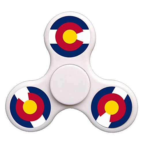 GGGfight-For colorado_state_flag Fidget Spinner High Speed Bearing ADHD Focus Anxiety Relief Toys for Children and Adults-white