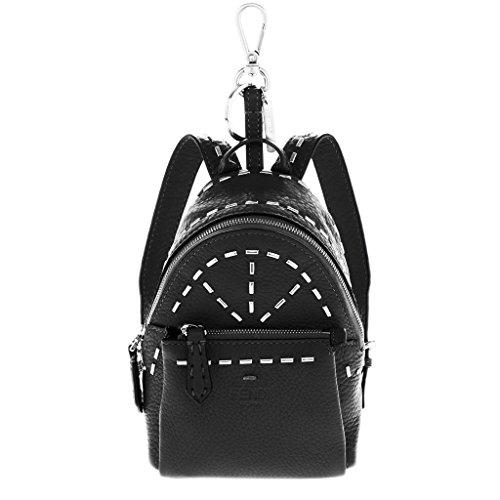 Fendi-Womens-Roman-Charm-Backpack-Black