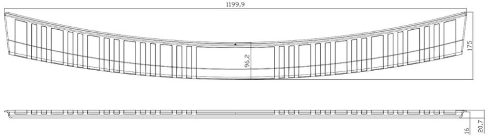 Dawn Enterprises RBP-012 Rear Bumper Protector