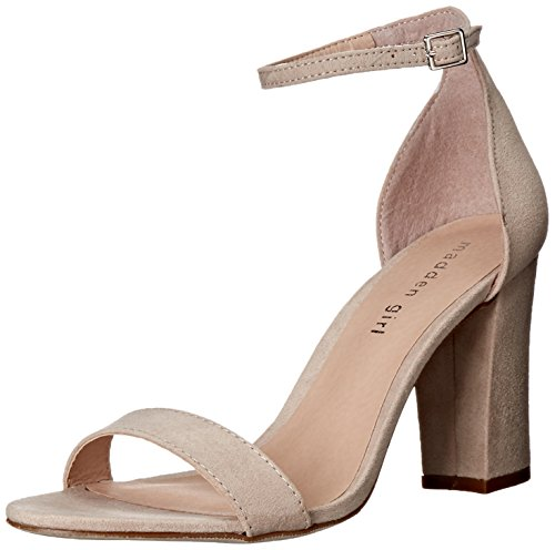 Madden Girl Women's Beella Dress Sandal, Blush Fabric, 8.5 M US (Heels Sandals Shoes Pink)