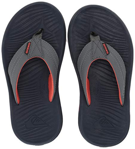(Quiksilver Boys' Oasis Youth Sandal Grey/Orange, 12(29) M US Little Kid)