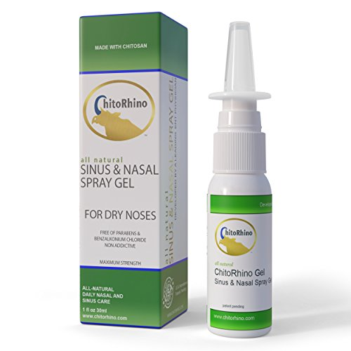 ChitoRhino All Natural Soothing Nasal Spray Gel for Dry Noses with Chitosan, Xyltol, Aloe Vera. (Aloe Vera Spray Gel)