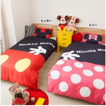[Disney Mickey Quilt Cover 150 × 210cm New From Japan F/s] (Cast Member Costumes Disneyland)