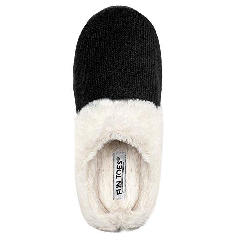 Ciabatte Da Donna Morbide Fodera Interna Slip-on Clog Pantofole Interne Accogliente Nero Termico Caldo