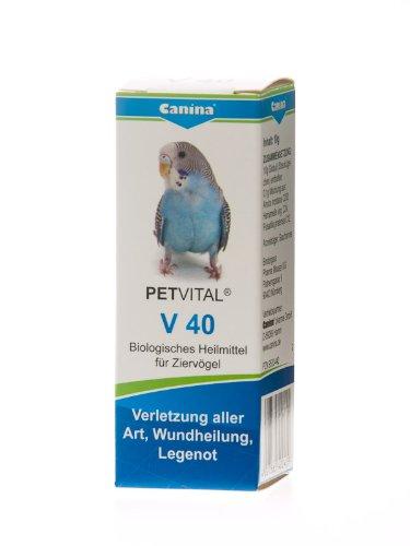 Canina 40040 9 Petvital V 40 10 g Globuli für Vögel