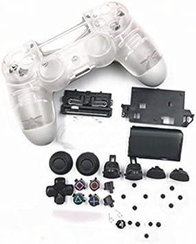 Carcasa Completa con Botones para PS4 Slim Pro para Playstation 4 DualShock 4 Slim Pro 4.0 JDS-040 JDM-040 Mando inalámbrico (Transparente): Amazon.es: Electrónica