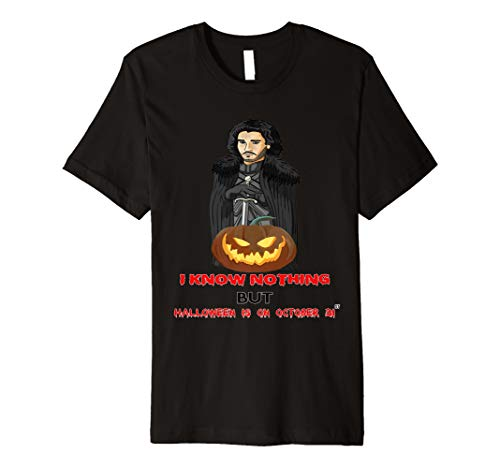 Halloween Funny Jon Game Gift Idea Throne Pumpkin Knows   Premium T-Shirt