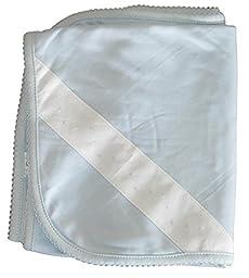 Kissy Kissy Baby-Boy Infants New Beginnings Receiving Blanket-Light Blue-One Size
