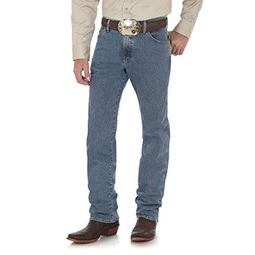 Wrangler Men's George Strait Cowboy Cut Regular Fit Jean, Steel Blue, 29X30