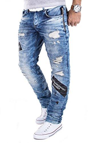 Redbridge Jeans by Cipo & Baxx RBC Pantalon Hommes Délavé Clubwear Vintage usé W29-W38 L32/L34