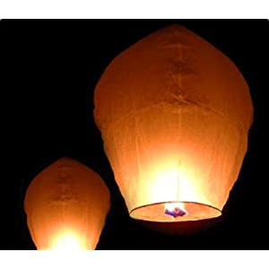 Best Choice Products Paper Chinese Lanterns Sky Fly Candle Lamp for Wish Party Wedding, Pack of 50, White