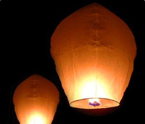 Best Choice Products  Paper Chinese Lanterns Sky Fly Candle Lamp for Wish Party Wedding, Pack of 50, (Floating Paper Lanterns)