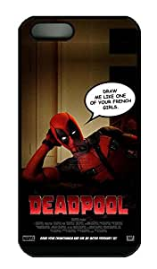iPhone 5 Case, iPhone 5S Cases - Full-Body Protective Black Hard Cover Case for iPhone 5/5s Deadpool Teaser Anti-Scratch Hard Back Case Bumper for iPhone 5/5S