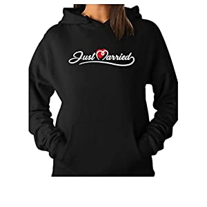 TeeStars – Just Married Gift for Newlywed Couples Women Hoodie