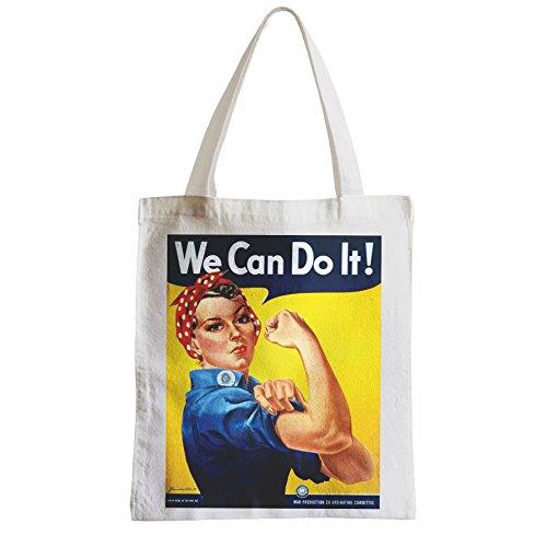 Grand Sac Shopping Plage Etudiant We Can Do It Women Femme War Guerre