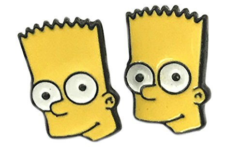 (Bart Simpson from The Simpsons Stud Earrings With Gift Box from Outlander)