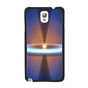 Snap on Hard Cover Nebula Galaxy Space Pattern Designed Back Skin for Samsung Galaxy Note 3 N9005 Cover Case Customized Cell Phone Protector (bright sun halo)