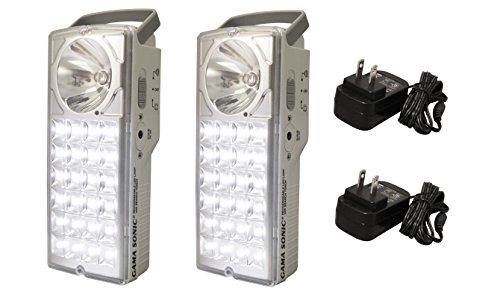 Gama Solar DLG2-972LS 8.5″ 24 LED Rechargeable Emergency Flash Light (Set of 2), White Finish For Sale