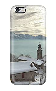 Brand New 6 Plus Defender Case For Iphone (town Photography Snow Mountain Sky Winter Place Village People Photography)