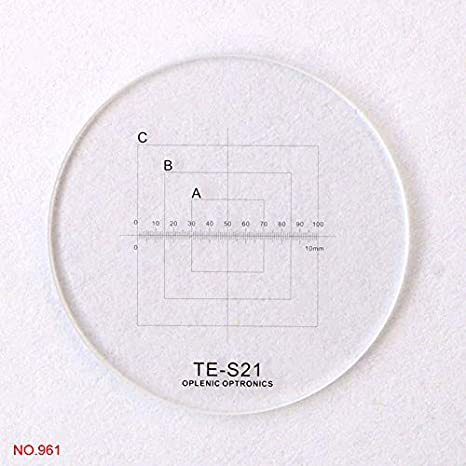 Mercury/_Group Color:NO.966 20.4mm Optical Glass Eyepiece Reticle Microscope Ocular Micrometer Slides for Olympus CX22 CX31 CX41 CKX Series Ocular Graticule