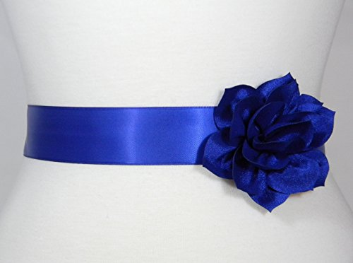 Royal Blue Bridal Sash, Wedding Belt, Bridal Belt, Flower Girl Dress Sash, Bridesmaid Belt, Satin Sash, Wedding Dress Belt, Simple Sash POSY by PCB Studio