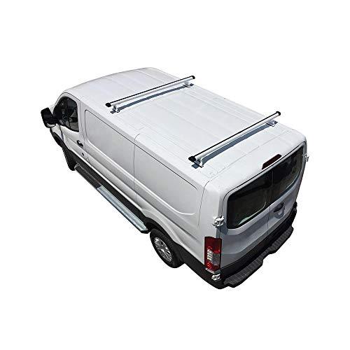 (Vantech H3 2-Bar Aluminum Rack System Fits: Ford Transit Cargo 2015-On White)