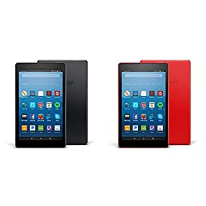 Fire HD 8 2-pack, 16GB - Includes Special Offers (Black/Punch Red)