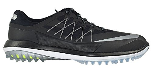 Nike Men's Lunar Control Vapor Golf Shoes (Medium) (10.5 M, Black/Metallic Silver-White)