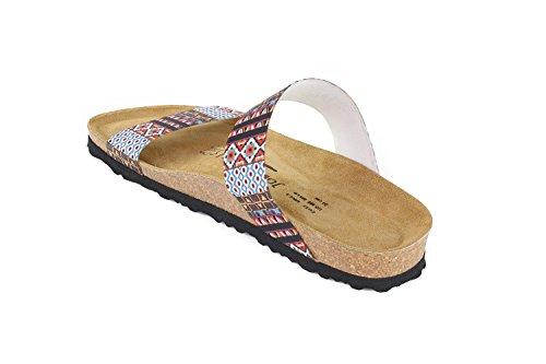 Schmal Elastic N Sandalen Kreta Fußbett Geometric Soft JOE JOYCE Pwt0Bt