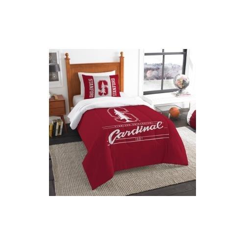 Amirshay, Inc. Stanford Cardinal NCAA Twin Comforter Set (Modern Take Series) (64 x 86) ()