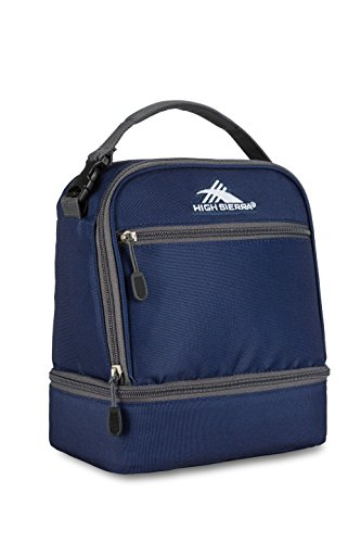 High Sierra Stacked Compartment Lunch Bag, True Navy/Mercury ()