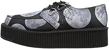 615666ee40061 T.U.K. Unisex Moon Scape Viva Mondo Creeper Fashion Sneaker, Black ...