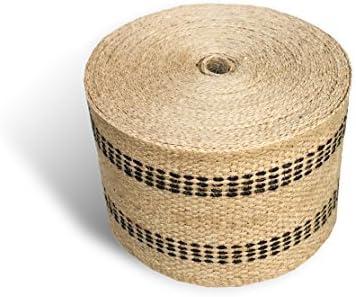 [해외]Upholstery or Craft Jute Webbing 3.5 x 10 Yds - NaturalBlack Stripes / Upholstery or Craft Jute Webbing, 3.5 x 10 Yds - NaturalBlack Stripes