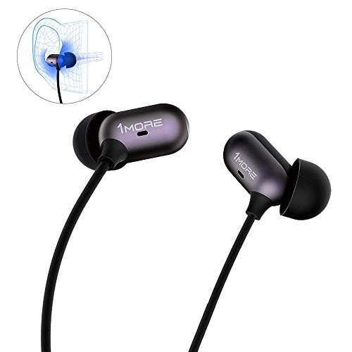1MORE Capsule Dual Driver In-Ear Earphones Comfortable Headphones with Hi-Res Sound, Noise Isolation, Snug Fit, Magnetic, Microphone and Remote Control for iPhone/Android/PC/Tablet - Black by 1MORE