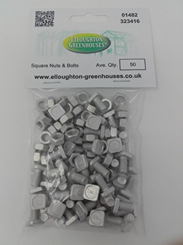(50 High Tensile Aluminium Greenhouse Nuts &)