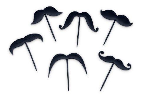 Fred LIP SERVICE Mustache Toothpicks, Set of 18