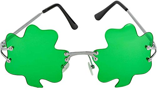 St. Patricks Day Green Shamrock Irish Clover Sunglasses