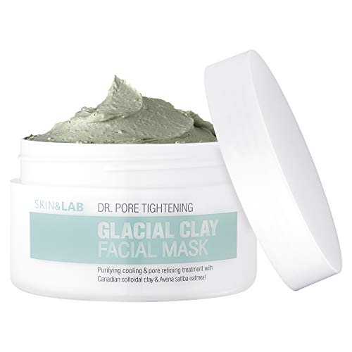 [SKIN&LAB] Glacial clay mask with Canadian glacial clay, pore tightening, controlling sebum, soothing, deep cleansing 100g, 3.5oz -