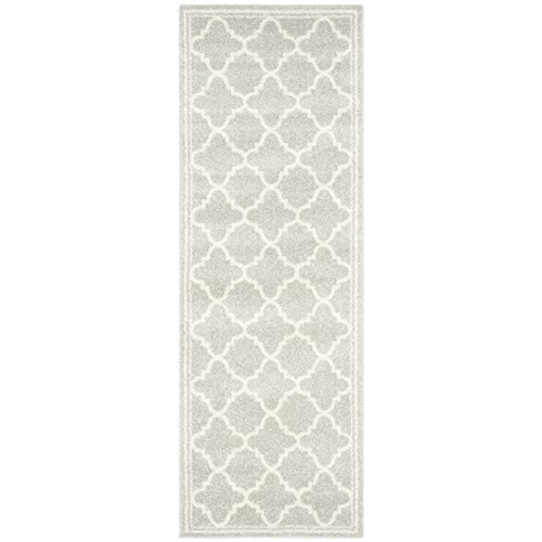 Safavieh Amherst Collection AMT422B Light Grey and Beige Indoor/ Outdoor Area Rug (2'6